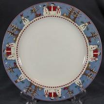 Debbie Mumm Snowman Dinner Plates Sakura Stoneware Christmas - $15.26