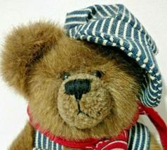 Boyds Bears Elmer O Bearroad Jointed Hat Overralls Bandana Retired Plush... - $13.99