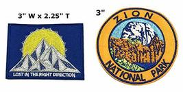 Lost in The Right Direction and Zion National Park Series 2-Pack Embroidered Pat - $7.89