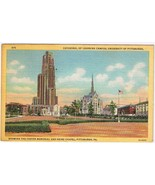 Pennsylvania Postcard Pittsburgh University Cathedral Of Learning Foster... - $2.84