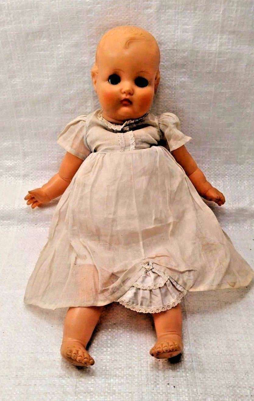Vintage Horsman Baby Doll Rubber with Cloth Body 18""