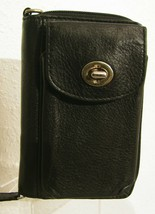 Coach Black Women's Wallet Zip Around, Phone Holder, Brass Hardware - $45.00