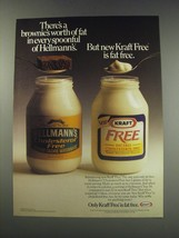 1991 Kraft Free Mayonnaise Ad - There's a brownie's worth of fat - $14.99