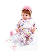 Reborn Handmade Lifelike Newborn Girl Doll Silicone Vinyl Baby Doll Gift... - $78.29
