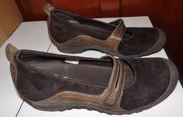 Women's Merrell Air Cushion Ortholite Brown Mary Jane Shoes Sz 9.5 - $17.82