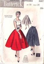 1952 CIRCLE SKIRT Pattern 6167-b Waist Size 24 - Complete - $9.99