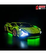 LED Light Kit for Lamborghini Sián FKP 37 - Compatible with Lego 42115 Set - $29.99+