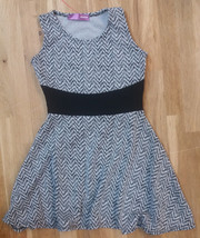 Aqua Girls' Herringbone Pattern Dress, Ivory/Black, Size 4T, MSRP $48 - $21.77