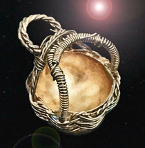 Haunted Necklace Never Go Without Silver Basket Rare Magick Majestic Collection - $237.77