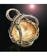 HAUNTED NECKLACE NEVER GO WITHOUT SILVER BASKET RARE MAGICK MAJESTIC COL... - $237.77