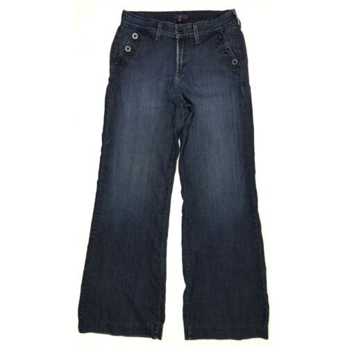 Primary image for NYDJ Not Your Daughters Jeans Flare Leg size 10 Womens Stretch Wide Leg USA