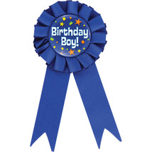 Birhtday Boy Award Ribbons, Case of 12 - $38.82
