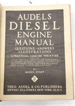 Vintage 1948 Audels Diesel Engine Manual Questions & Answers 554 pgs Com... - $32.71
