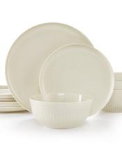 Hotel Collection Modern Round 12-Pc. Dish Dinnerware set Service for 4 B... - $130.00