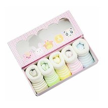 Striped Looped Fabric Newborn Infant Socks Sets for Unisex Baby
