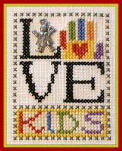 Love Kids - Girl Love Bits cross stitch chart Hinzeit - $6.00