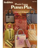 Plastic Canvas Totes Bags Key Eyeglass Case Purses Plus E. W. Shepard Pa... - $12.99