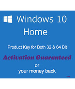 Windows 10 Home 32/64 Bit Product Key with Download Links - $8.80