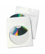 "Quality Park Tech-No-Tear CD/DVD Sleeves White, 4.875"" x 5"" 100 Sleeves,... - $18.90"