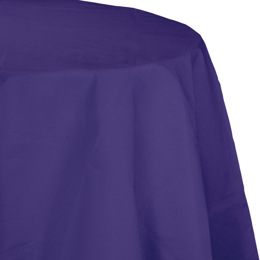 82 inch Octy Round Tissue/Poly Tablecover Purple/Case of 12