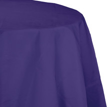 82 inch Octy Round Tissue/Poly Tablecover Purple/Case of 12 - $50.00