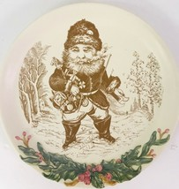 """Christmas Woodlands Santa Plate 10"""" Rare Holiday Design Midwest Of Canno... - $39.59"""