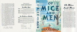 John Steinbeck Of Mice et Hommes Facsimile Dust Pochette pour First & Early - $21.50