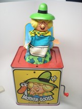 Vintage 1971 Mother Goose in the Music Box Wind Up Toy by Mattel USA Works - $19.80