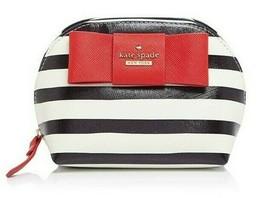 Kate Spade Small Annabella Julia Street Stripe Cosmetic Case PWRU4703 Br... - $94.05