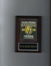 Vegas Golden Knights Banner Plaque 2018 Conference Champions Champs Hockey Nhl - $3.95
