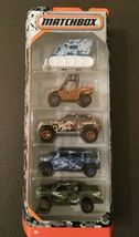 Matchbox 2017 Camo Truck Hummer Ford Digger SUV (5-PACK) SAME-DAY FREE SHIP image 3