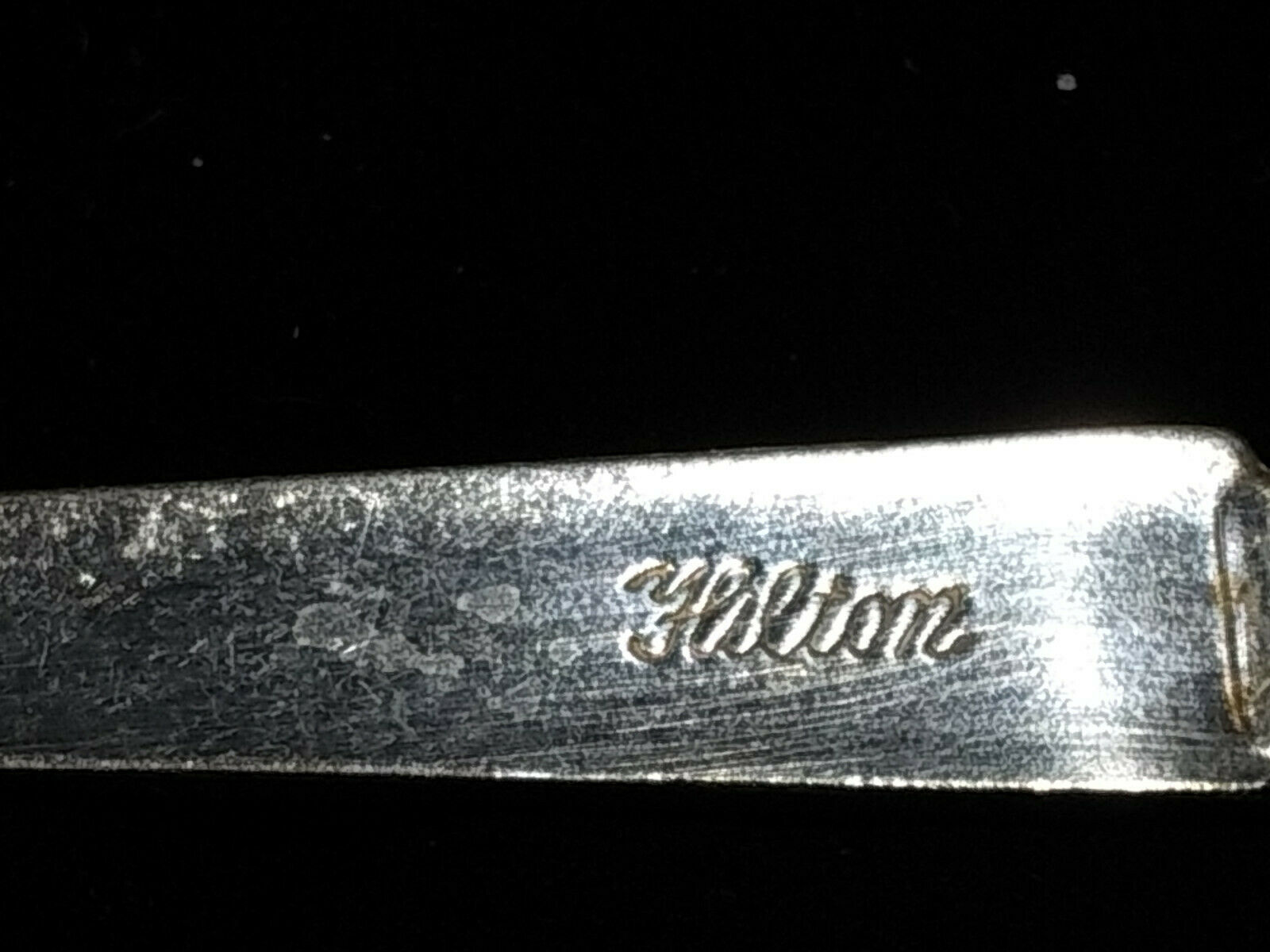 Hilton Hotel Small Spoon International Silver Co 6 Inch Advertising