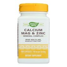 Nature's Way - Calcium Mag and Zinc - Mineral Complex - 100 Capsules - $13.99