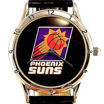 Phoenix Suns, Lady Fossil Relic Official NBA Black Leather Band Quartz Watch $59 - $58.26
