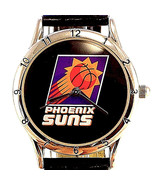 Phoenix Suns, Lady Fossil Relic Official NBA Black Leather Band Quartz W... - $58.26