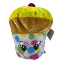 Goffa Smiling multicolor Cupcake Stuffed Plush - $5.00