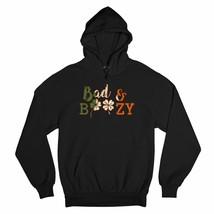 Bad & Boozy Sweatshirt St. Patrick's Day Shamrock Clover Drinking Hoodie - $27.07+