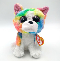"6"" TY Beanie Boo Gift Plush Toys Isla Multicolor Dog With Tag Claires Ex... - £7.34 GBP"