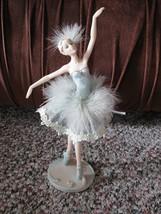 """Ballerina Statue Figurine in a Light Green Dress 11"""" x 3"""" - $6.95"""