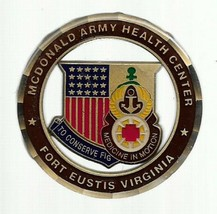 US Army Fort Eustis Virginia Mcdonald Army Health Center Challenge Coin - $18.80
