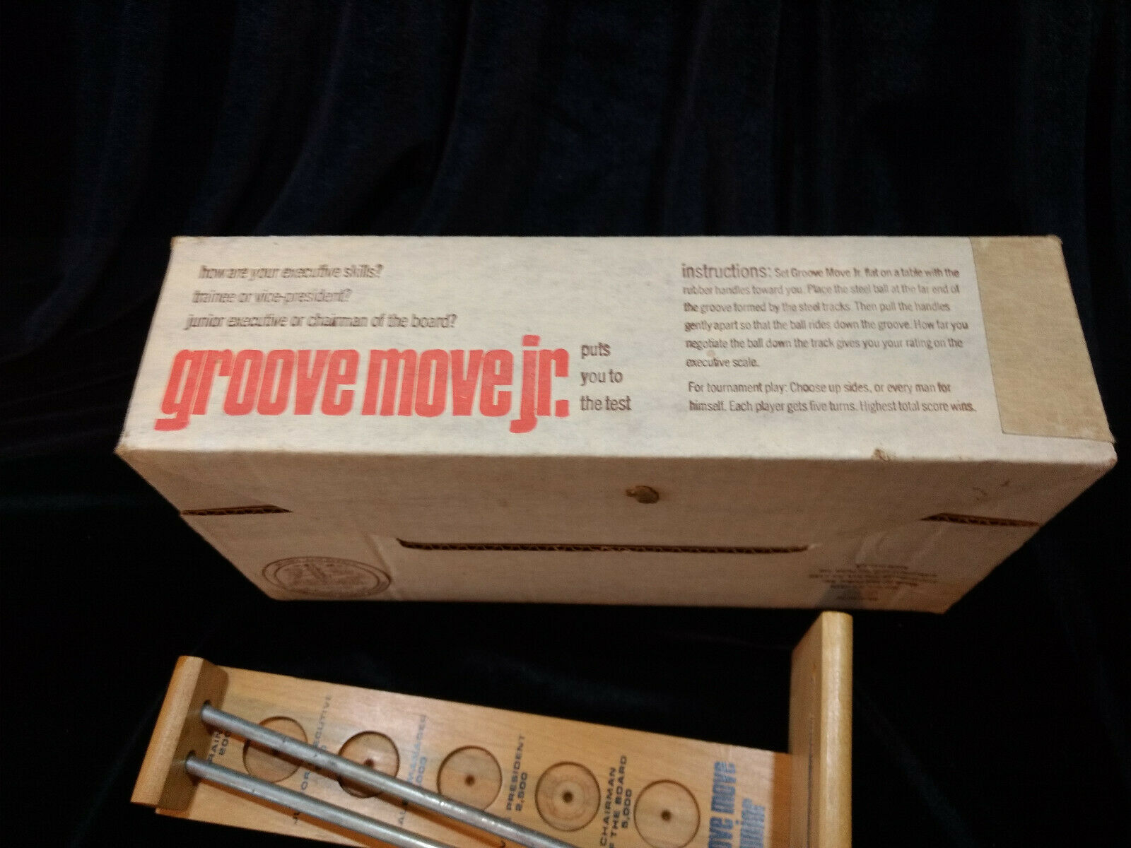 Groove Move Jr - Wood & Steel Ball Game. 1971 Vintage with Original Box