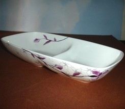 Lenox Simply Fine Watercolor Amethyst Divided Server 2-Section Tray 11.7... - $34.90
