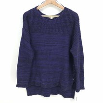 M NWT Style & Co Women's Laced Sides Long Sleeve Pullover Sweater Midnig... - $17.27