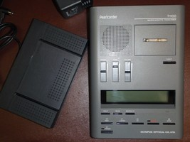 Olympus T1100 microcassette transcriber with foot pedal, headset, warranty - $189.99
