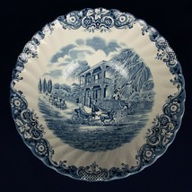 Johnson Brothers Heritage Hall Blue Vegetable Bowl French Provincial - $21.77
