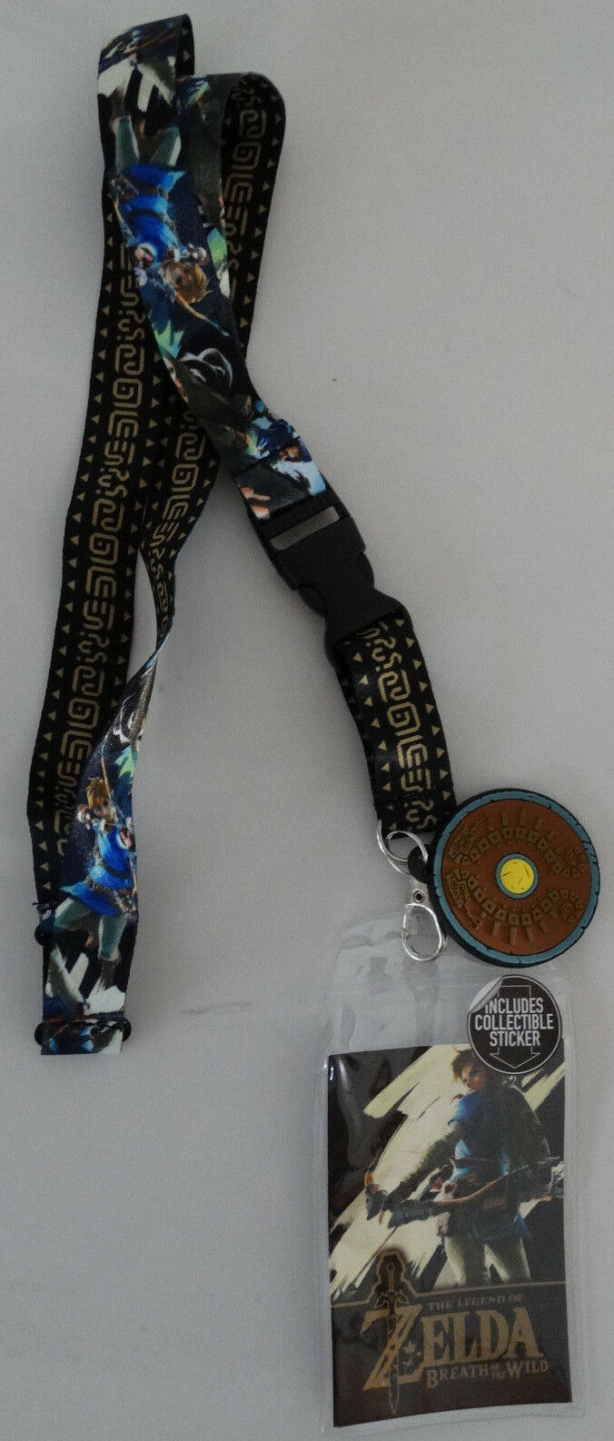 Zelda Breath Of The Wild Shield Video Game ID Badge Holder Keychain Lanyard