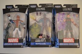 Lot of 3 Action Figures Marvel Legends Series Energized Emissaries, Capt... - $27.69