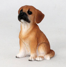 PUGGLE TINY ONES DOG Figurine Statue pet lovers gift resin - $8.99
