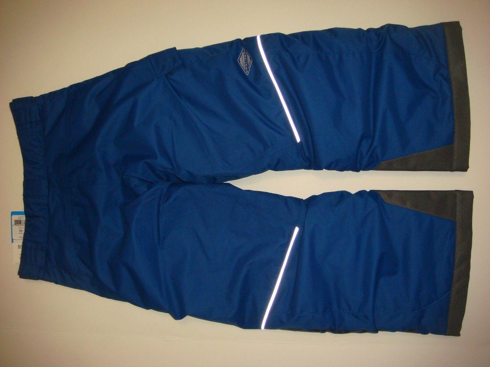 COLUMBIA youth BOYS twins SKI SNOW JACKET+PANTS BLUE navy green omni heat XS 6-7