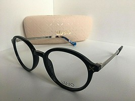 New LIU JO LJ 2638 LJ2638 001 Black 49mm Round Women's Eyeglasses Frame  - $99.99